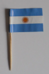 Argentina Country Flag Cocktail Sticks (pack of 10)